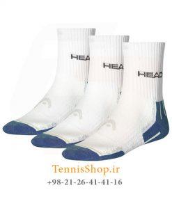 تنیس سه جفتی برند Head مدل Performance Crew آبی1 247x296 - جوراب تنیس سه جفتی  مدل Performance Crew برند Head رنگ سفید آبی
