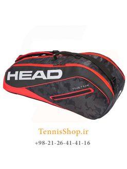 ساک تنیس هد سری Tour Team Combiمدل 6 راکته رنگ قرمز مشکی
