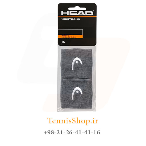 مچ بند تنیس هد سری 2.5 اینچ مدل 2 عددی رنگ خاکستری