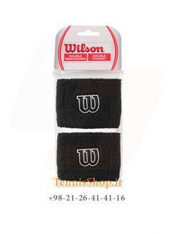 مچ بند تنیس ویلسون سری Poignets مدل 2 عددی رنگ مشکی