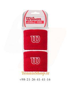 مچ بند تنیس ویلسون سری Poignets مدل 2 عددی رنگ قرمز