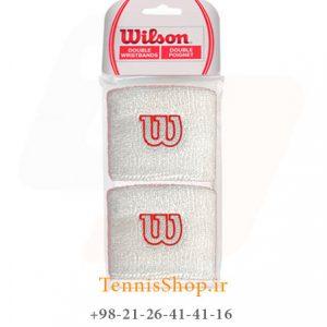 بند تنیس Wilson W Wristband WH 1 300x300 - مچ بند تنیس  Wilson W Wristband WH