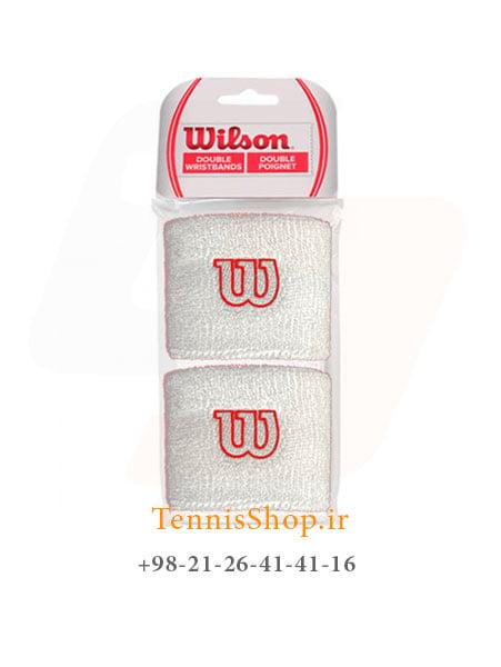 مچ بند تنیس ویلسون سری Poignets مدل 2 عددی رنگ سفید