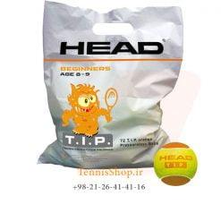 پک 72 تایی توپ تنیس هد سری TIP مدل Polybag رنگ نارنجی