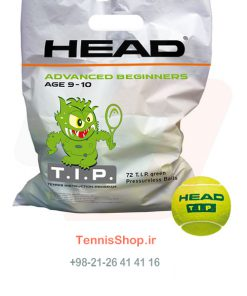0 158 247x296 - پک 72 تایی توپ تنیس سبز برند Head مدل TIP Polybag
