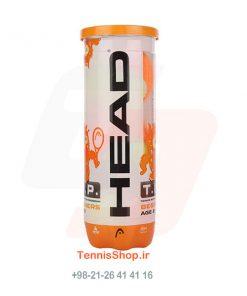 قوطی سه تایی توپ تنیس نارنجی برند HEAD مدل TIP