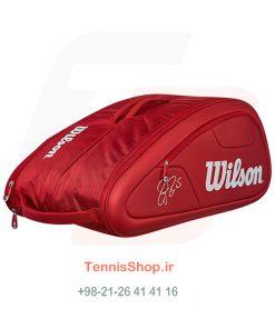 0 270 247x296 - ساک تنیس 12 راکته Wilson Federer DNA RED
