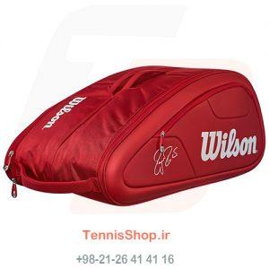 0 270 300x300 - ساک تنیس 12 راکته Wilson Federer DNA RED