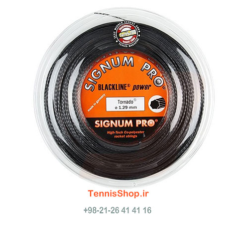 زه رول تنیس سیگنوم پرو سری Tornado Reel مدل 1.29 رنگ مشکی