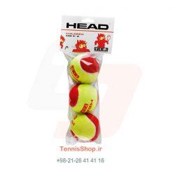 قوطی سه تایی توپ تنیس قرمز برند HEAD مدل TIP