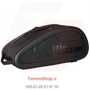 1 151 300x300 - ساک تنیس Wilson سری Federer Dna مدل 12 راکته رنگ مشکی
