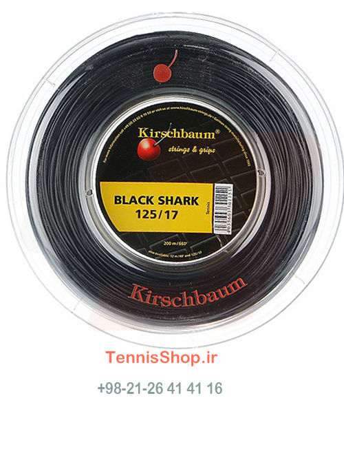 زه راکت تنیس Kirschbaum Black Shark (1.25) Reel
