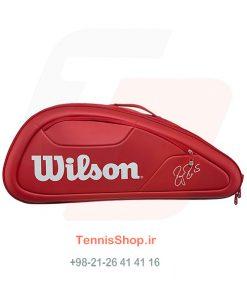2 118 247x296 - ساک تنیس 12 راکته Wilson Federer DNA RED