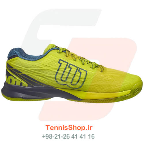 کفش تنیس Wilson Kaos Clay Yellow Blue Men