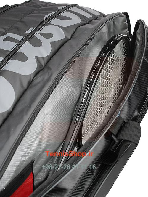 ساک تنیس 15 راکته Wilson Tour V 15R BK