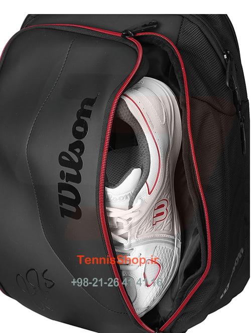 "5 135 <p style=""text-align: justify;""><span style=""color: #000000;""><span style=""color: #ff6600;""><strong><a style=""color: #ff6600;"" href=""https://tennisshop.ir/product-category/%D8%AE%D8%B1%DB%8C%D8%AF-%D8%B3%D8%A7%DA%A9-%D8%AA%D9%86%DB%8C%D8%B3/%D8%A8%D8%B1%D9%86%D8%AF-%D9%87%D8%A7%DB%8C-%D8%B3%D8%A7%DA%A9-%D8%AA%D9%86%DB%8C%D8%B3/%D8%B3%D8%A7%DA%A9-%D8%AA%D9%86%DB%8C%D8%B3-%D9%88%DB%8C%D9%84%D8%B3%D9%88%D9%86/"" target=""_blank"" rel=""noopener noreferrer"">کوله پشتی تنیس ویلسون</a></strong> <strong><a style=""color: #ff6600;"" href=""https://tennisshop.ir/series/%d9%88%db%8c%d9%84%d8%b3%d9%88%d9%86-federer/"" target=""_blank"" rel=""noopener noreferrer"">سری Dna Federer</a></strong></span> رنگ مشکی قرمز یک همراه کامل برای بازیکنانی است که می خواهند وسایل مورد نیاز بیرون زمین تنیس شان را به همراه داشته باشن.فضای داخل این کیف کاملا تقسیم شده است که باعث نظم بیشتر کیف و استفاده بهینه از فضای آن می شود.ضمنا جنسی دارد که هوای داخل آن تصفیه می شود.</span></p>"
