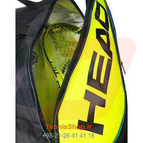 ساک تنیس 9 راکته برند Head مدل Extreme SuperCombi