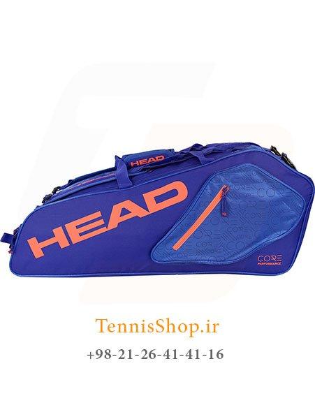 ساک تنیس 6 راکته آبی نارنجی برند Head مدل CORE Combi