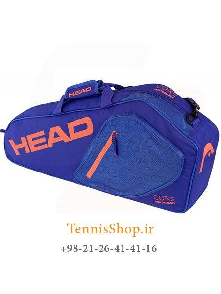 ساک تنیس 3 راکته آبی نارنجی برند Head مدل Core Pro