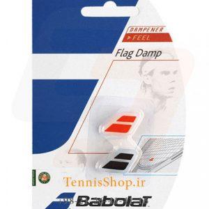 ضربه گیر راکت تنیس نارنجی و مشکی برند Babolat مدل FLAG Damp