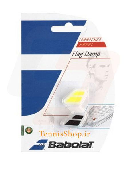 ضربه گیر راکت تنیس زرد و مشکی برند Babolat مدل FLAG Damp
