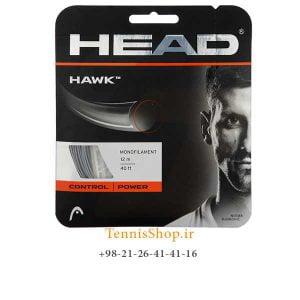 HEAD GREYHAWK STRING TENNIS1 300x300 - زه تک راکت تنیس برند Head مدل Hawk خاکستری