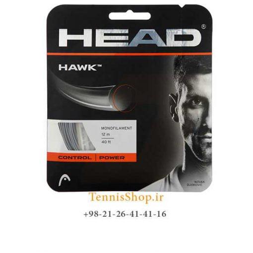 زه تک تنیس هد سری Hawk مدل 1.25 رنگ خاکستری