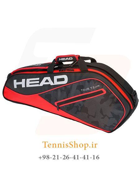 ساک تنیس هد سری Tour Team PRO مدل 3 راکته رنگ قرمز مشکی