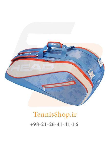 ساک تنیس هد سری Tour Team SuperCombi مدل 9 راکته رنگ آبی کرم