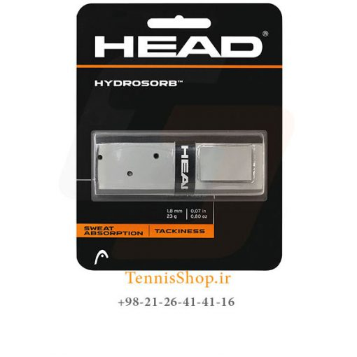 مین گریپ راکت تنیس خاکستری مشکی برند HEAD مدل HydroSorb