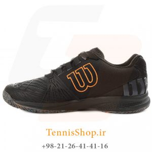 KAOS 2.0 CLAY COURT EBONYBKSHOCKI X 300x300 - کفش تنیس مردانه Wilson مدل Kaos 2.0 رنگ مشکی