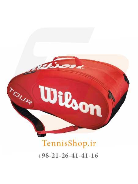 ساک تنیس Wilson Tour Molded 2.0 9 Pk Bag RD