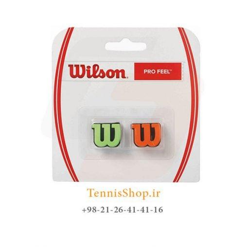 ضربه گیر راکت تنیس ویلسون 2 عددی مدل Pro Feel رنگ سبز نارنجی