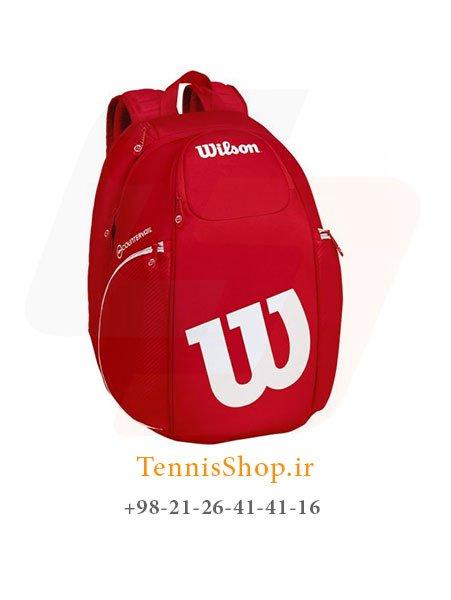 کوله پشتی تنیس ویلسون سری Vancouver رنگ سفید قرمز