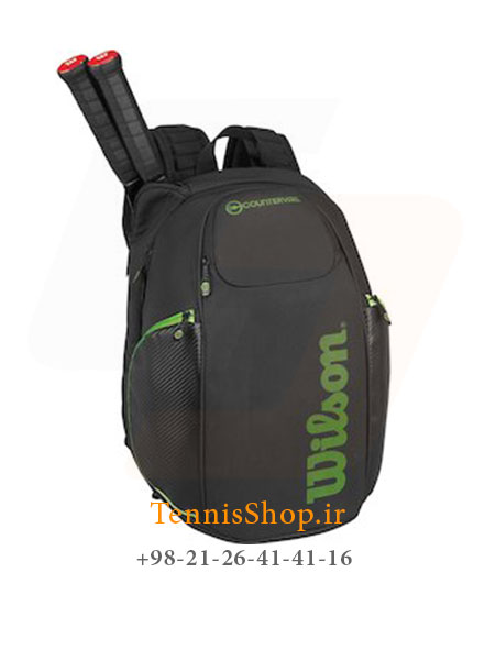 کوله پشتی تنیس ویلسون سری Vancouver رنگ مشکی سبز