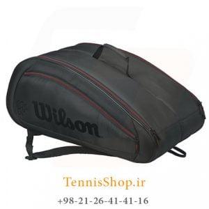 wilson FED team 2 300x300 - ساک تنیس 12 راکته Wilson FED Team BLACK