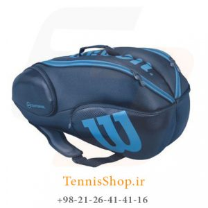 wilson vancouver 9 pack 300x300 - ساک تنیس 9 راکته  Wilson Vancouver BLUE