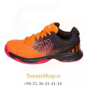 تنیس بچه گانه Wilson مدل Shocking رنگ نارنجی مشکی 1 300x300 - کفش تنیس بچه گانه Wilson مدل Shocking رنگ نارنجی مشکی