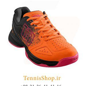 تنیس بچه گانه Wilson مدل Shocking رنگ نارنجی مشکی 2 300x300 - کفش تنیس بچه گانه Wilson مدل Shocking رنگ نارنجی مشکی