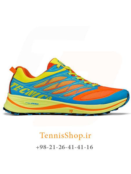 کفش پیاده روی نیلی نارنجی برند TECNICA مدل RUSH E-LITE