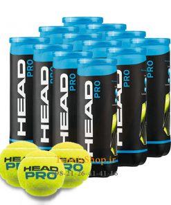 12 قوطی سه تایی توپ تنیس برند Head مدل Pro 247x296 - 12 قوطی سه تایی توپ تنیس برند Head مدل Pro