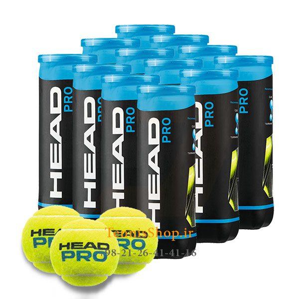 12 قوطی سه تایی توپ تنیس برند Head مدل Pro 600x600 - 12 قوطی سه تایی توپ تنیس برند Head مدل Pro