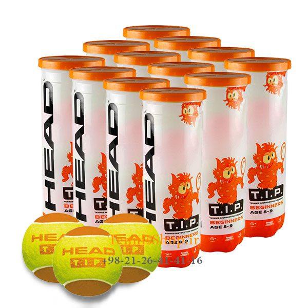 12 قوطی سه تایی توپ تنیس نارنجی برند HEAD مدل TIP 600x600 - 12 قوطی سه تایی توپ تنیس نارنجی برند HEAD مدل TIP