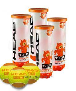 4 قوطی سه تایی توپ تنیس نارنجی برند HEAD مدل TIP 247x296 - 4 قوطی سه تایی توپ تنیس نارنجی برند HEAD مدل TIP