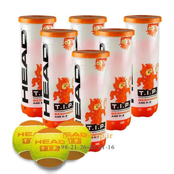 6 قوطی سه تایی توپ تنیس نارنجی برند HEAD مدل TIP 600x600 - 6 قوطی سه تایی توپ تنیس نارنجی برند HEAD مدل TIP