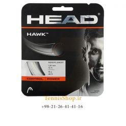 زه تک تنیس هد سری Hawk مدل 1.30 رنگ سفید