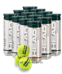 head 12can 3B davis cup tennis balls 247x296 - 12 قوطی سه تایی توپ تنیس مدل Davis Cup برند Head