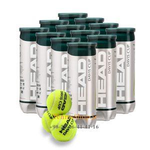 head 12can 3B davis cup tennis balls 300x300 - 12 قوطی سه تایی توپ تنیس مدل Davis Cup برند Head