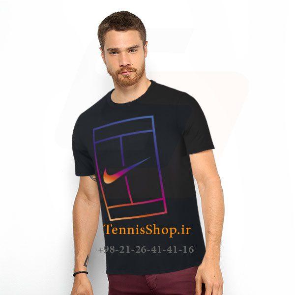 تنیس مشکی برند Nike مدل COURT IRIDESCENT 600x600 - تیشرت تنیس مشکی برند Nike مدل COURT IRIDESCENT
