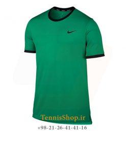 تیشرت تنیس سبز برند Nike مدل Court Dry Team Crew